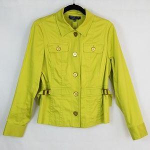 Jones New York Signature Chartreuse Green Jacket